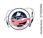 seafood fishing trip vector...   Shutterstock .eps vector #577820983