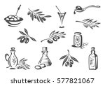 olives vector icons of olive... | Shutterstock .eps vector #577821067