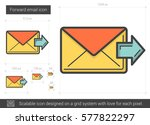 forward email vector line icon... | Shutterstock .eps vector #577822297