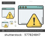 Alert Window Vector Line Icon...