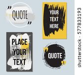 vector quote collection. hand... | Shutterstock .eps vector #577833193