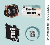 vector quote collection. hand... | Shutterstock .eps vector #577833217