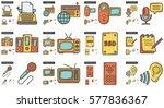 journalism vector line icon set ...   Shutterstock .eps vector #577836367