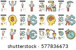 business vector line icon set... | Shutterstock .eps vector #577836673