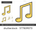 crotchet vector line icon... | Shutterstock .eps vector #577839073