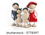 big family 3d model | Shutterstock . vector #5778397