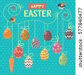 vintage easter egg poster... | Shutterstock .eps vector #577840477