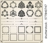 vintage set of square  round...   Shutterstock .eps vector #577840747