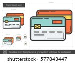 credit cards vector line icon... | Shutterstock .eps vector #577843447