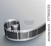 realistic film strip background | Shutterstock .eps vector #577853233