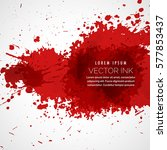 vector blood splatter stain... | Shutterstock .eps vector #577853437