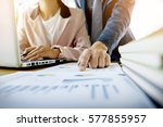 team work process. young... | Shutterstock . vector #577855957