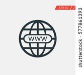 world wide web globe vector icon   Shutterstock .eps vector #577861393