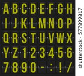 set of letters and numbers on a ...   Shutterstock .eps vector #577899817