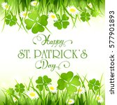 patricks day background with... | Shutterstock .eps vector #577901893
