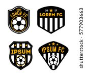 football badge and logo... | Shutterstock .eps vector #577903663