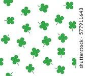 clover leaf seamless vector... | Shutterstock .eps vector #577911643