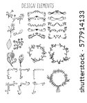hand drawn design elements ... | Shutterstock .eps vector #577914133