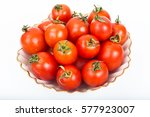 Fresh Small Tomatoes In White...