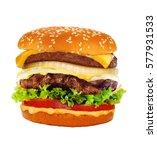 Big Tasty Cheeseburger Isolate...
