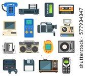 vintage technologies camera... | Shutterstock .eps vector #577934347