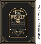 whiskey card with old frames | Shutterstock .eps vector #577937767