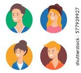 people set of vector avatars | Shutterstock .eps vector #577939927