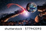 outer space planet earth mars... | Shutterstock . vector #577942093