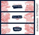 Fresh Meat  Butcher Shop Banne...