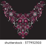 isolated collar neck lace... | Shutterstock .eps vector #577952503