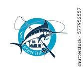 Marlin Fishing Sport Emblem....