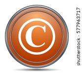 Copyright Icon. Orange Interne...