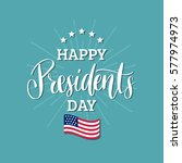 vector presidents day card.... | Shutterstock .eps vector #577974973