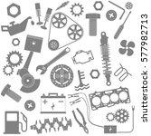 background. mechanics. car... | Shutterstock .eps vector #577982713