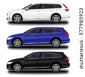 realistic car. station wagon.... | Shutterstock .eps vector #577985923