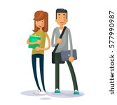 couple young students vector...   Shutterstock .eps vector #577990987