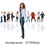 stand out from the crowd   Shutterstock . vector #57799816