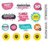 sale shopping banners. special... | Shutterstock .eps vector #578000293