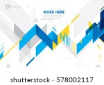 vector of modern abstract... | Shutterstock .eps vector #578002117