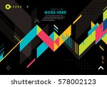 vector of modern abstract... | Shutterstock .eps vector #578002123