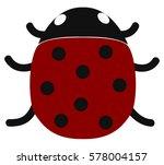Ladybird Cartoon Vector...