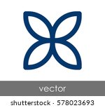 flower icon | Shutterstock .eps vector #578023693