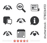 hands insurance icons. health... | Shutterstock .eps vector #578026453