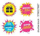 sale splash banner  special... | Shutterstock .eps vector #578027887