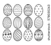 Easter Eggs Hand Drawn...