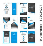 set of vertical double sided... | Shutterstock .eps vector #578034277