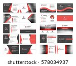 business card templates.... | Shutterstock .eps vector #578034937