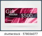 gift voucher. vector design... | Shutterstock .eps vector #578036077