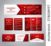 valentine's day banner  flyers  ... | Shutterstock .eps vector #578038957