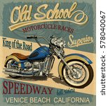 vintage motorcycle  poster   t... | Shutterstock .eps vector #578040067